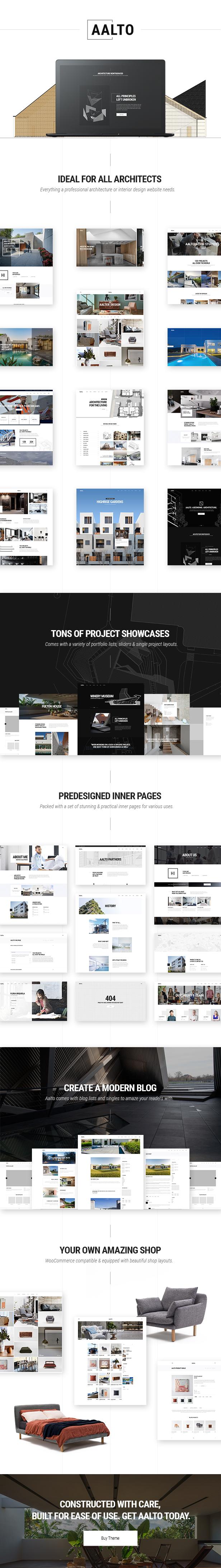 WordPress theme Aalto - A Refined Architecture and Interior Design Theme (Portfolio)